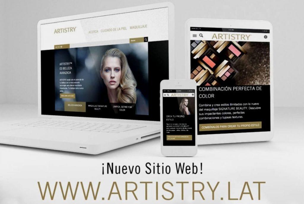sitio web de artistry para américa latina